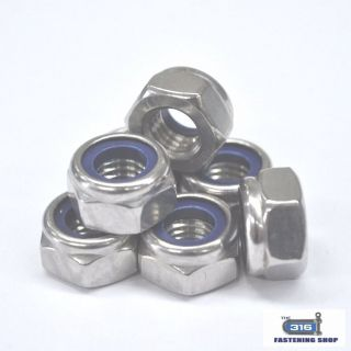 Metric Nylock Nuts Stainless