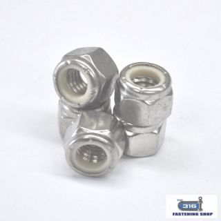 Imperial Nylock Nuts Stainless