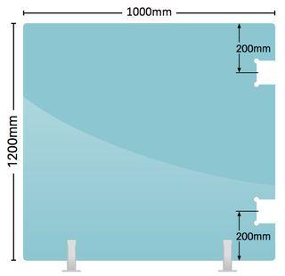 Soft Close Hinge Glass Panels