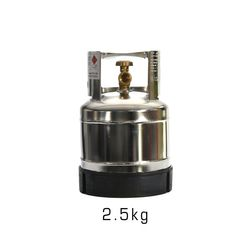 BBQ Gas Bottle Stainless 2.5kg