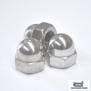 Metric Dome Nuts Stainless Steel Solid
