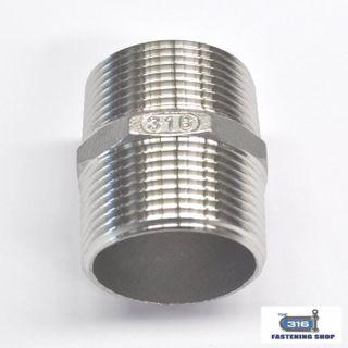 Hex Nipples Stainless Steel