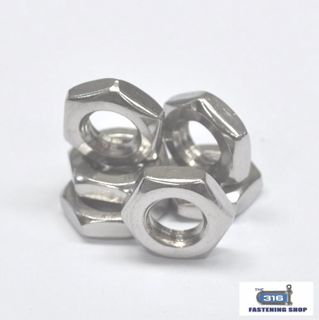 Imperial Hex Stud Nuts Stainless Steel