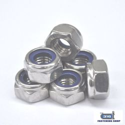 Nut Nylock M6 304 x 100