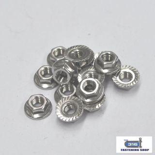 Metric Flanged Nuts Stainless Steel