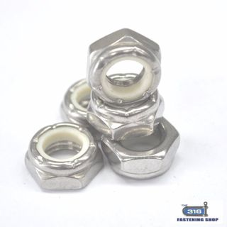 Imperial Nylock Nuts Thin Stainless Steel
