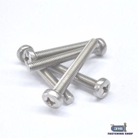 M4 Metal Thread Pan Phillip Head Screws