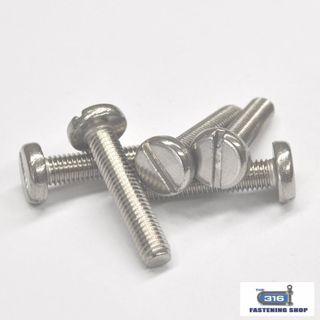 M6 Metal Thread Pan Slot Head Screws