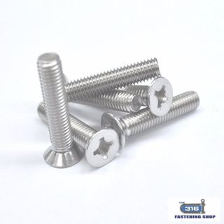 M8 Metal Thread CSK Phillip Head Screws