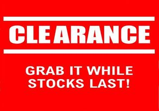 GIFTWARE CLEARANCE