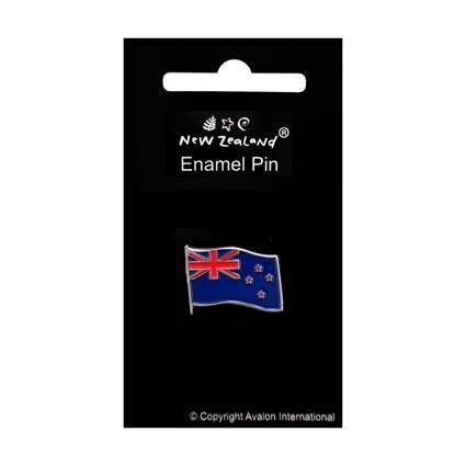 ENAMEL PIN BADGE NZ FLAG