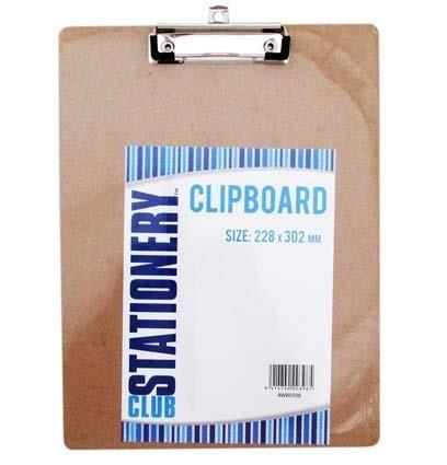 CLIPBOARD 228MM X 302MM