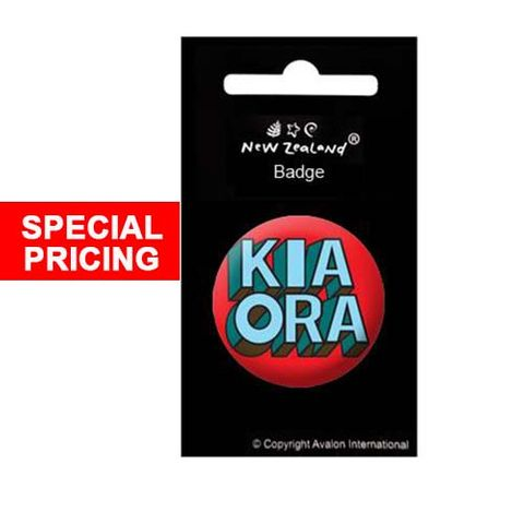 BADGE NZ KIA ORA 38MM^