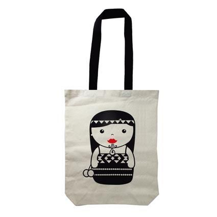 BAG CANVAS NZ MAORI GIRL