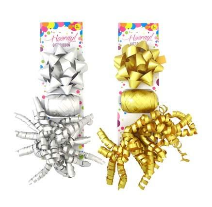 GIFT RIBBON CURLS METALLIC