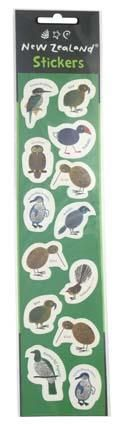 LASER STICKER NZ BIRDS