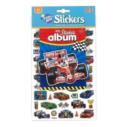 STICKER ALBUM RACE CAR W STICKERS
