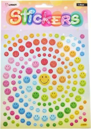 UPIKIT STICKER SMILEY MULTI COLS