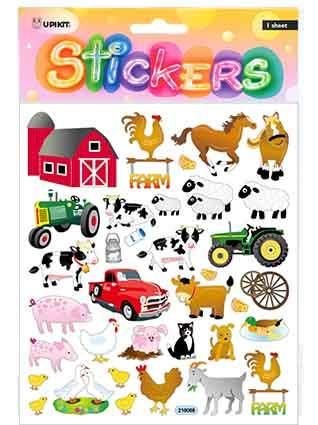 UPIKIT STICKER FARM ANIMALS