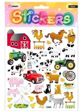 UPIKIT STICKER FARM ANIMALS