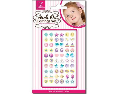 STICK ON EARRINGS RAINBOWS 30 PAIRS