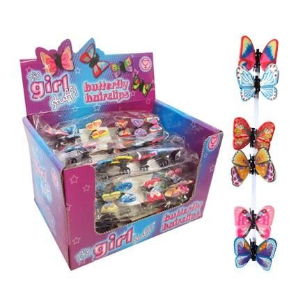 HAIRCLIPS BUTTERFLY 6PC