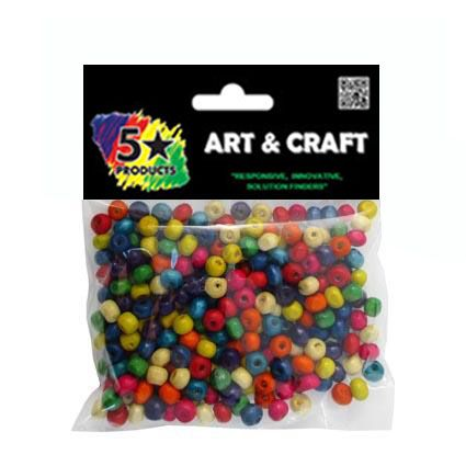 BEADS COLOURED 5-6MM 250PC