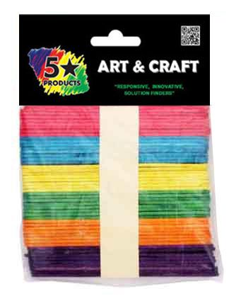 POPSICLE STICKS COLOUR 100PC