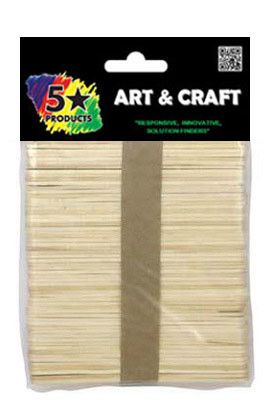 POPSICLE STICKS PLAIN 120PC