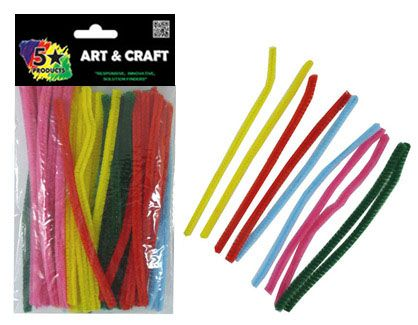 PIPE CLEANERS COLOUR 15CM 65PC