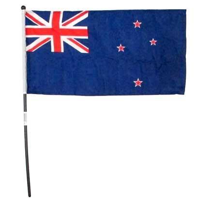 FLAG NZ HAND HELD 15X30CM