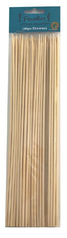 BAMBOO SKEWERS 25CM 100PC^