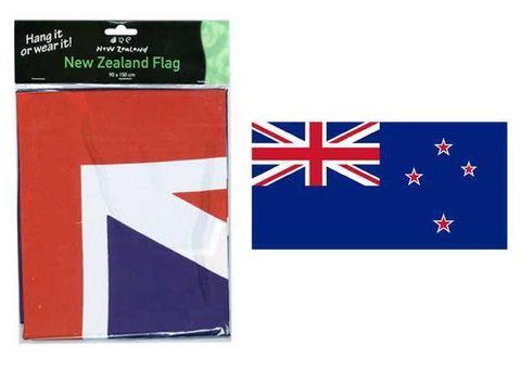 FLAG NZ W2 GROMMETS &VELCRO 90X150CM