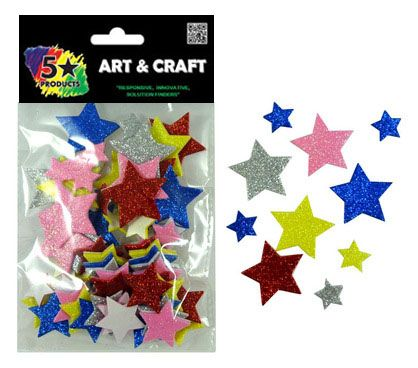 SHAPES SOFT STARS STICKERS 80PC