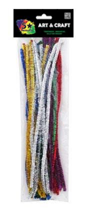 PIPE CLEANERS GLITTER 30CM 40PC