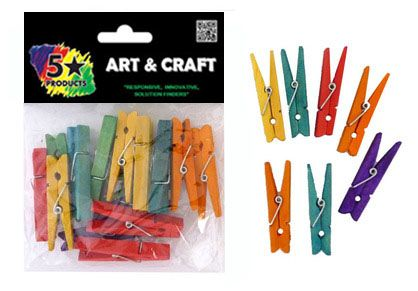 PEGS COLOUR 6MM 22PC