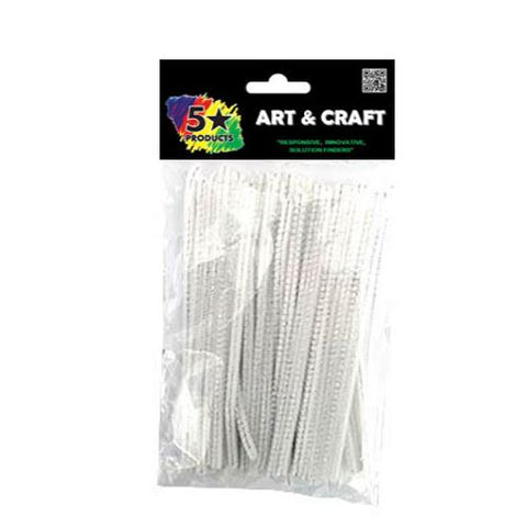 PIPE CLEANERS WHITE 15CM 60PC