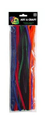 PIPE CLEANERS COLOURED 30CM 30PC