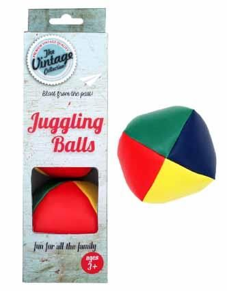 JUGGLING BALLS IN VINTAGE BOX 3PC