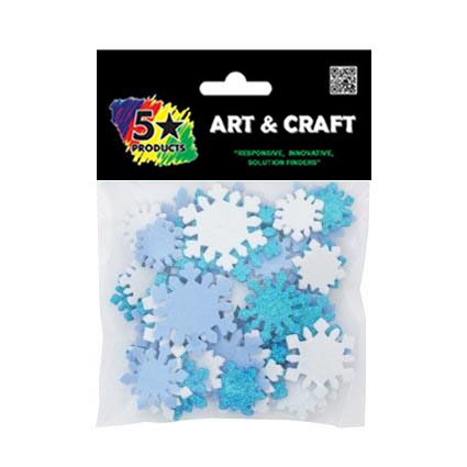 CRAFT SOFT STICKERS SNOWFLAKES 60PC