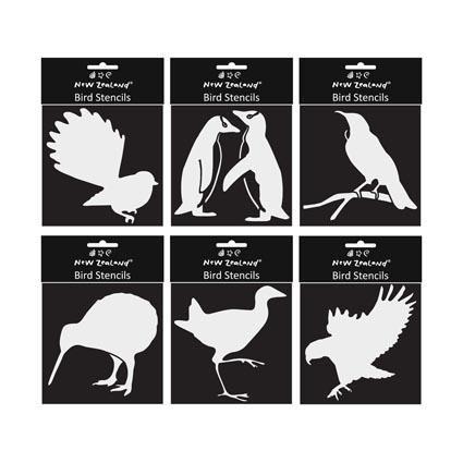 STENCIL NZ BIRDS