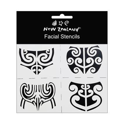 STENCIL NZ MAORI FACIAL 4PC