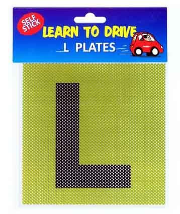 LEARNER DRIVER L PLATES 15CM  2PC