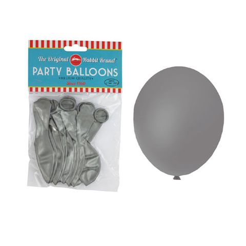 BALLOONS METALLIC SILVER 10PC