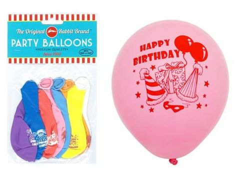 BALLOONS HAPPY BIRTHDAY 8PC