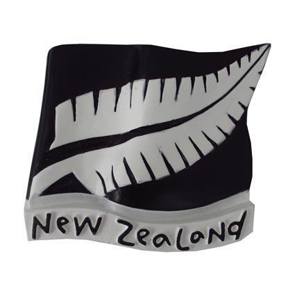 MAGNET NZ FERN FLAG 6CM