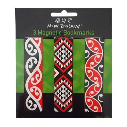 BOOKMARK MAGNETIC MAORI PATTERN 3PC