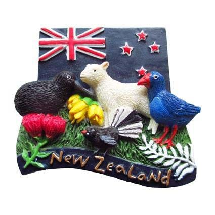 MAGNET ANIMALS OF NZ WITH FLAG