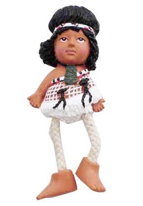 MAORI DOLL W MOVING LEGS MAGNET