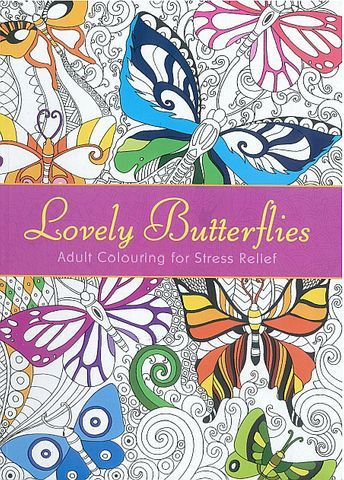 ADULT COLOURING BOOK BUTTERFLY